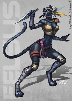 Female Panther by Felsus.deviantart.com on @DeviantArt