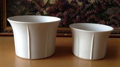 Arabia Finland 2 pieces of ceramic flower pots