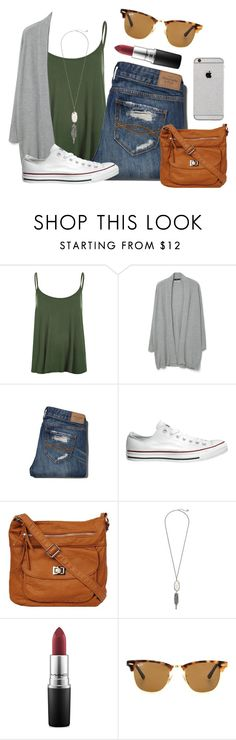 """Love is all we need ❣"" by kari-luvs-u-2 ❤ liked on Polyvore featuring WearAll, MANGO, Abercrombie & Fitch, Converse, Kendra Scott, MAC Cosmetics and Ray-Ban"