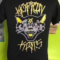 Koffin Kats T-shirt-Yellow Satan Kat Band Merch, Satan, Yellow, Mens Tops, Shirts, Fashion, Moda, Shirt, Fasion