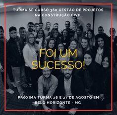 Quer fazer parte de um time de engenheiros de sucesso?! Inscreva-se AGORA no nosso curso Gestão de Projetos na Construção Civil que será dia 26 e 27 de agosto em Belo Horizonte  Tenho certeza que você não vai se arrepender!  Link para inscrição está na nossa (BIO)