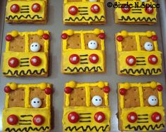 Sizzle N Spice School Bus Cake Cupcakes And Cookies cakepins.com
