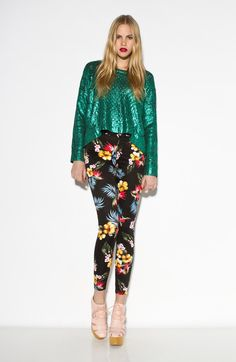 Jordan Skinny Jean in Black Fiji Repeat Print from Motel Rock - There's one thing for certain ... Motel Rock get the Jordon jeans right every time! Motel skinny jeans featuring all over exotic floral Fiji print ... hotness! $95