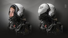 MM45 by Benoit Godde. Added to CGHub Jun 7th. Science fiction sci-fi fantasy robotic mechanical exosceleton suit armour female.