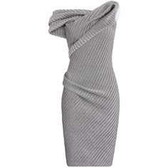 Maticevski Recoil Cocktail Dress ($1,120) ❤ liked on Polyvore featuring dresses, knee length sheath dress, off shoulder dress, knee length fitted dresses, herringbone dress and knee high dresses