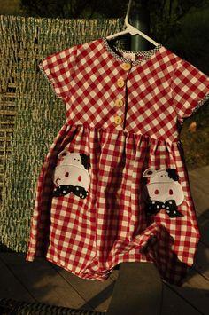 Vintage 1970s Unique Vintage Childs Buster Brown Dress Vintage USA