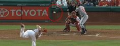 Anthony Rendon's home run had a painful landing spot. (MLB)