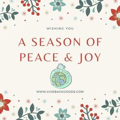 @givebackgoods posted to Instagram: This year, the entire world changed. May this December bring you calm and happiness. . . Shop sustainable gifts at GiveBackGoods.com (link in bio, shipping is always included) . . #GiveBackGoods #GiveBack #gogreen #ecofriendly #zerowaste #sustainability #sustainable #eco #nature #environment #green #gogreen #savetheplanet #fairtrade #handmade #organic #climatechange #fightclimatechange #earth #bethechange #recycle #reuse #reducewaste International Holidays, Sustainable Gifts, Reduce Waste, Giving Back, Save The Planet, Go Green, Reuse, Sustainability, Eco Friendly