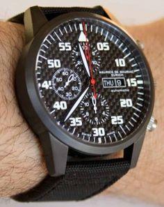 Maurice de Mauriac Chronograph Modern Tactical Vision Watch Review Wrist Time Reviews