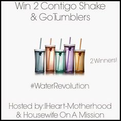 Contigo Shake & Go Tumblers Review and Giveaway #WaterRevolution