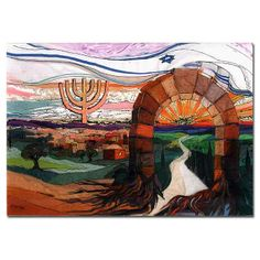 From Generation to Generation Signed print by Israeli artist, Bracha Lavee. Available in Two Sizes.
