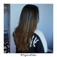 We are crazy about this look. #Balayage #BalayageHair BalayageOmbre by Muchelle. Come stop by #TopLevelSalon for this gorgeous look. Check us out on Instagram and Facebook @ TopLevelSalon