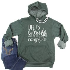 Camping Life, Family Camping, Camping Outfits, Diy Shirt, Funny Tees, Family Shirts, Hoodies, Sweatshirts, Cool T Shirts