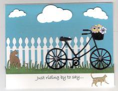 Bicycle die cut card, Small
