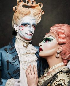 ♥ The Arseniek + Cookie Kunty ♥ Photography by Jean Ranobrac ( Drag Queen Makeup, Drag Makeup, Clown Makeup, Costume Makeup, Beauty Makeup, Halloween Face Makeup, Drag Queen Costumes, Drag Queen Outfits, Makeup Inspo