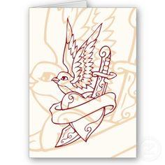 heart banner bird knife Circus Nails, Heart Dagger Tattoo, Heart Banner, Card Tattoo, Piercings, Tattoo Ideas, Nail Art, Bird, Tattoos