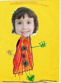 Aprender Brincando: Projeto Identidade - Tudo sobre mim - Pré II Body Preschool, Preschool Art, Kindergarten Activities, Art Activities, Painting For Kids, Art For Kids, Crafts For Kids, Indoor Activities For Kids, Toddler Activities