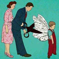 你们当初剪下了我的翅膀,现在却要我飞翔