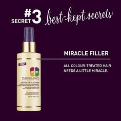 Think Miracle Filler is just for blondes? Think again. This product benefits all types of colour-treated hair. We can't let blondes have all the fun!
