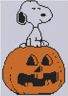 Looking for your next project? You're going to love Snoopy Pumpkin Cross Stitch Pattern  by designer bracefacepatterns. - via @Craftsy