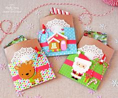 Weekender with Wanda – Doodlebug Spotlight! Christmas gift card holders and treat bags.