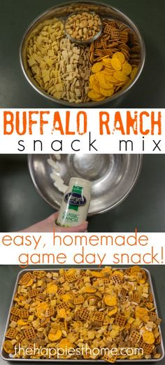 Make your own game day snack mix using @Marzetti Kitchens Classic Ranch Dressing and your favorite cereal, crunchy snacks, and nuts. Full recipe on the blog! #EverydayMarzetti #spon