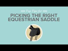 Check out these great tips on #saddleselection https://www.youtube.com/watch?v=U7Cdltgdphs