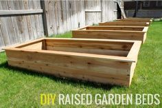 Our DIY Raised Garden Beds We built 5 beds in a little over 2 hours for 100