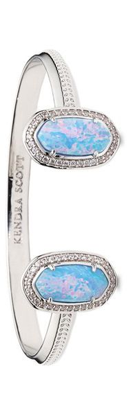 Kendra Scott Bracelet - Silver and Ice Blue Opal