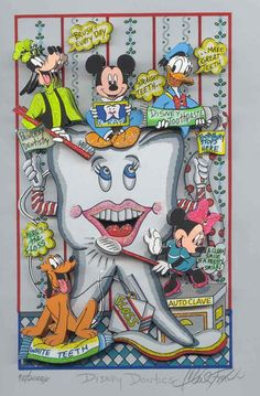 Disney Dontics. Dental Art Dentist Art Dental Collectibles Dental Animation- DentalCollectibles.com