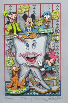 Disney Dontics. Dental Art Dentist Art Dental Collectibles Dental Animation- DentalCollectibles.com