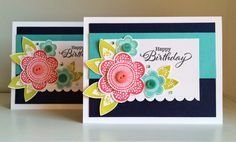 The Queen's Scene - PTI Friendly Flower birthday cards