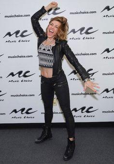 Rachel Platten at Music Choice on April 6, 2015...