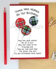 Birthday Wishes Funny, 60th Birthday, Birthday Stuff, Birthday Verses For Cards, Birthday Cards, Happy Birthday In Gaelic, Scotland Funny, Foil Highlights, Birthday Balloons