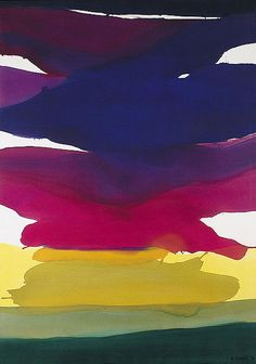 GRETCHEN ALBRECHT (b.1943)  Cerise Sky  Acrylic On Canvas