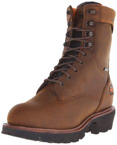 d84e2218c404 Timberland PRO Mens 9 Inch Rip Saw Soft Toe Waterproof Ins Work Boot Brown  Distressed Leather 15 W US -- More info could be found at the image url.
