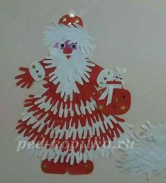 Hands of Santa Claus. Winter Crafts For Kids, Christmas Activities, Christmas Crafts For Kids, Christmas Projects, Kids Christmas, Holiday Crafts, Christmas Classroom Door, Christmas Door Decorations, Christmas Ornaments