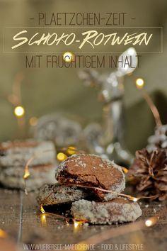 Rezept für Schoko-Rotwein-Plätzchen mit Himbeerfüllung