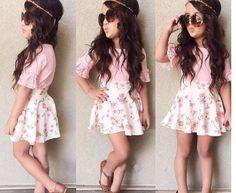 High-quality-kids-font-b-model-b-font-pink-floral-girl-dress-clothing-set-for-kids.jpg (814×668)