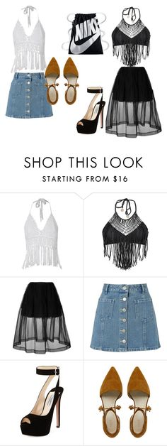 """""""crystal and auroras outfit"""" by bellapaige-marshall on Polyvore featuring Luli Fama, Simone Rocha, Miss Selfridge, Prada and NIKE"""