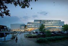 Propuesta ganadora de 3XN para la Universidad Mälardalen, en Suecia