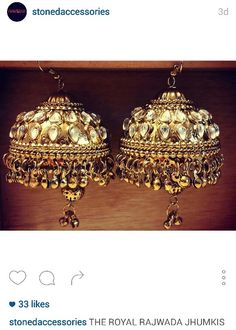 Rajwada jhumka earrings