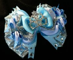 Cinderella Hair Bow headband hair clip hair by SweetandCuteBows, $15.00