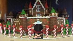 """A """"gingerbread"""" Castle at the Hotel Fantasy Tower entrance Disney Grand Californian Hotel, Disneyland Resort Hotel, Gingerbread Castle, Disneyland Christmas, Downtown Disney, Christmas Decorations, Holiday Decor, Christmas Pictures, Entrance"""