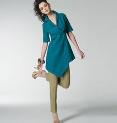 Vogue 8791 - Tunic - love the asymmetrical hemline