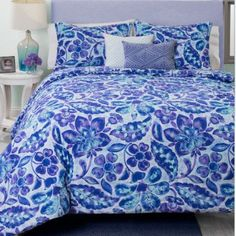 Features:  -Twin contains 1 comforter, standard sham and 2 decorative pillows.  -Bright colors and stylish design will add to the decor of any room.  -Polyester blend.  -Full/Queen contains 1 comforte