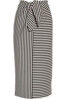 Tibi Ren striped cotton-blend jersey skirt | NET-A-PORTER