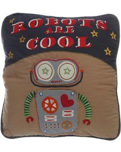 Kissenbezug ROBOTS ARE COOL (40x40) in blau/bunt von Room Seven ✔ Kurze Lieferzeit ✔ Jetzt bei tausendkind kaufen!
