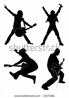 Rock star silhouettes