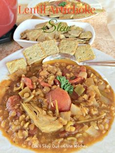 Lentil Artichoke Stew - fabulous stew that's spicy and delicious along with being quick and easy to prepare